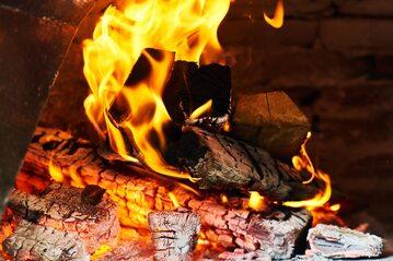 Palący się ogień