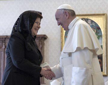 Papież Franciszek i Beata Szydło