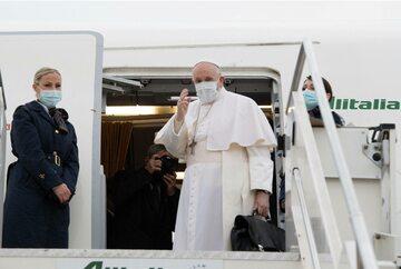 Papież Franciszek podczas pielgrzymki do Iraku