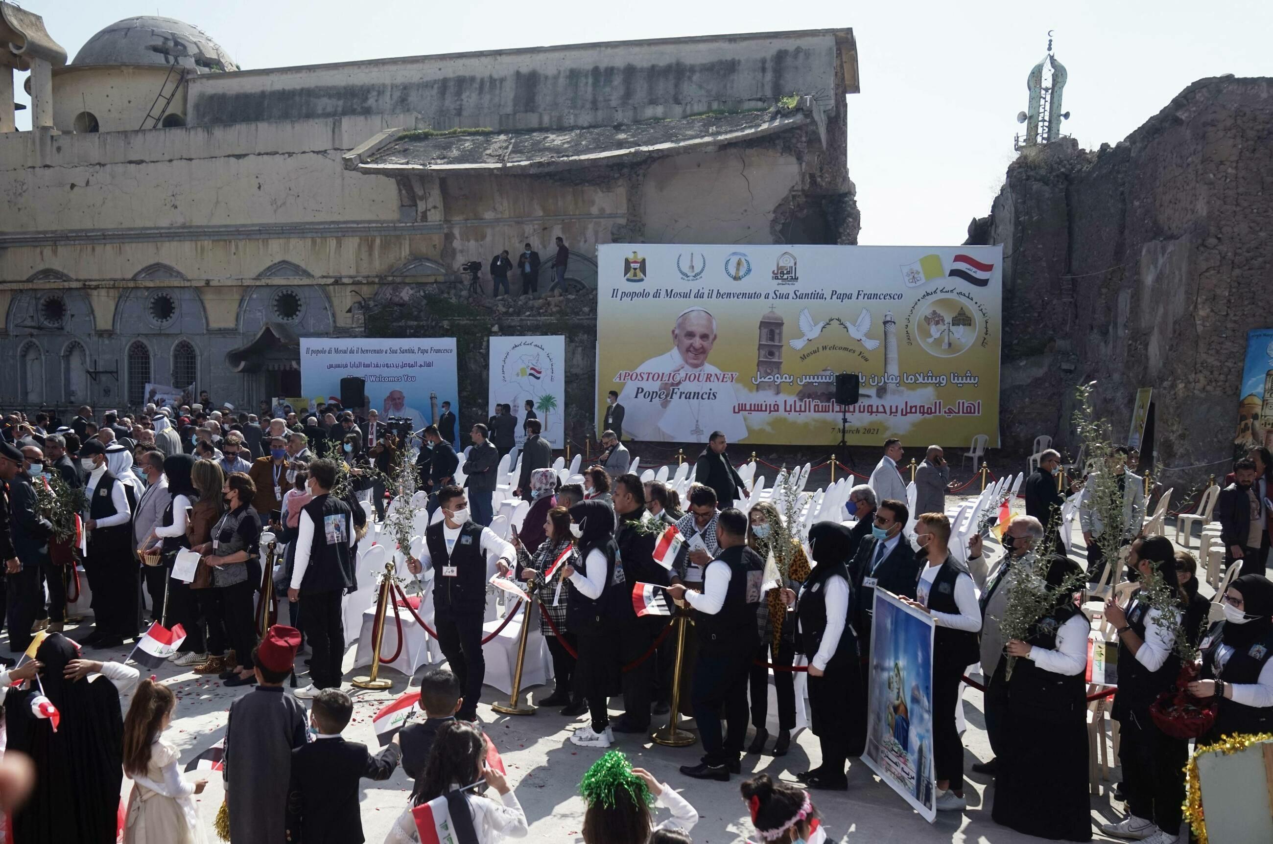Wizyta papieża Franciszka w Iraku. Na spotkaniu pojawiły się tłumy