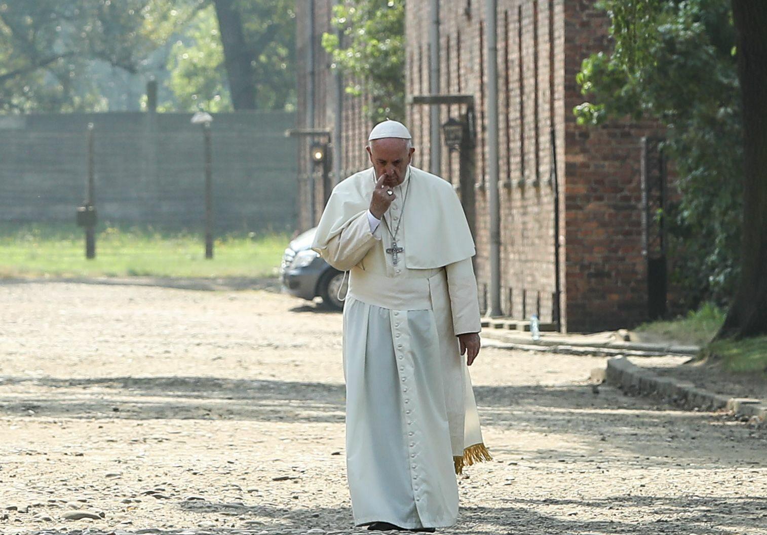 Papież Franciszek w Oświęcimiu