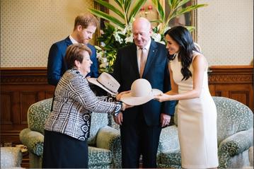 Para książęca podczas wizyty w Australii