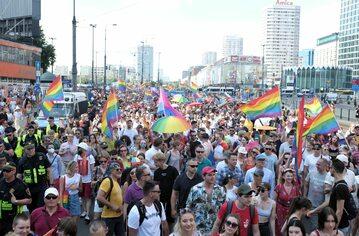 Parada Równości w Warszawie, 19 czerwca 2021 r.