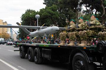 Parada zwycięstwa w Azerbejdżanie po wojnie z Armenią (zdjęcie z grudnia 2020 r.)