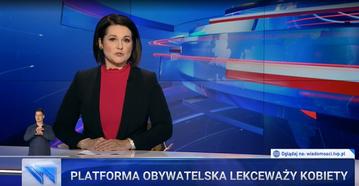 """Pasek informacyjny z """"Wiadomości"""" TVP"""