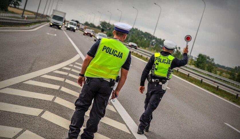 Patrol policji drogowej