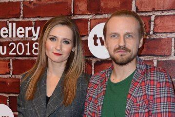 Paweł Domagała z żoną