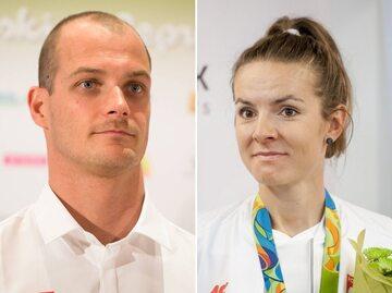 Paweł Korzeniowski i Maja Włoszczowska