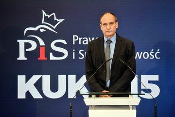 Paweł Kukiz podczas ogłaszania porozumienia z PiS