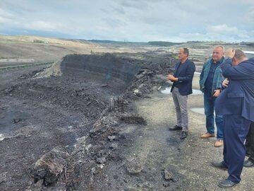 Paweł Kukiz w kopalni Turów