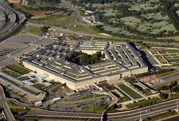 Pentagon widoczny z lotu ptaka