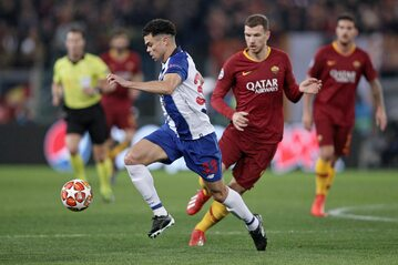Pepe podczas pierwszego meczu z Romą