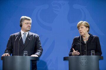 Petro Poroszenko, Angela Merkel