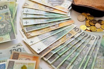 Pieniądzem zdjęcie ilustracyjne