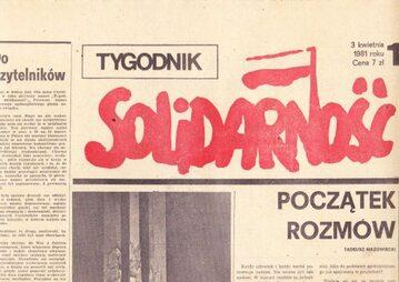 """Pierwszy numer """"Tygodnika Solidarność"""""""