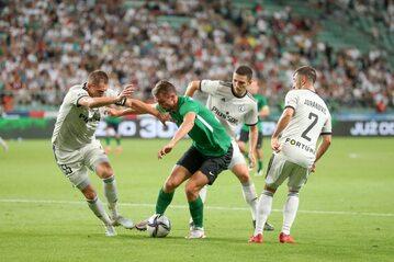 Piłkarze Legii w meczu z Florą