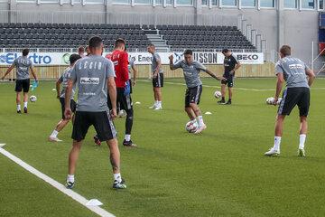 Piłkarze Legii Warszawa na treningu
