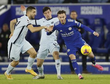 Piłkarze Leicester City i Chelsea