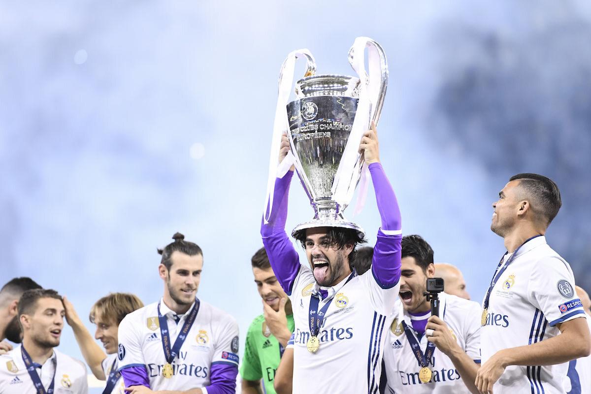 Piłkarze Realu Madryt po zwycięstwie w Lidze Mistrzów
