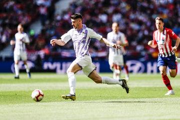 Piłkarze Realu Valladolid w meczu z Atletico Madryt