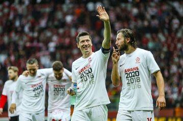 Piłkarze reprezentacji po awansie na Euro