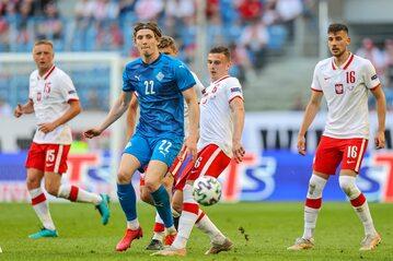 Piłkarze reprezentacji podczas meczu z Islandią