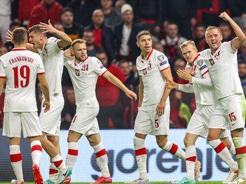 Piłkarze reprezentacji Polski w meczu z Albanią