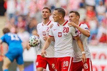 Piotr Zieliński w meczu reprezentacji Polski