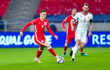 Piotr Zieliński w meczu z Węgrami