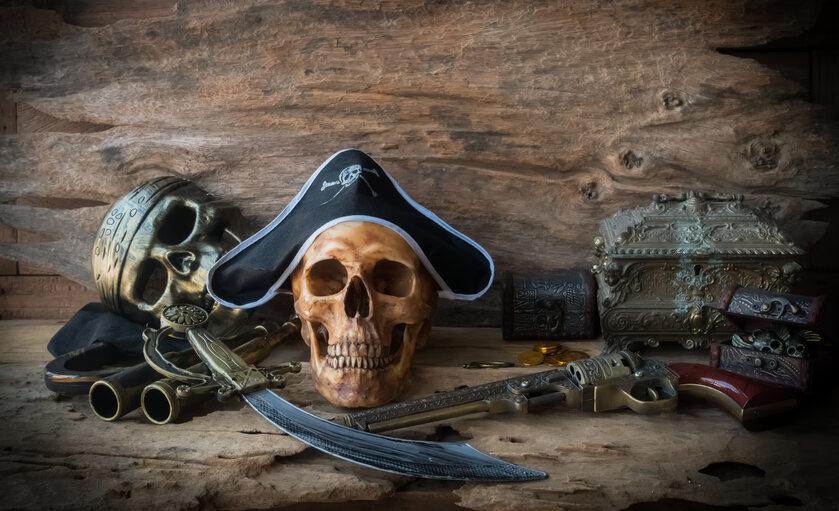 Piraci, czaszka zdj. ilustracyjne