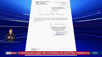 """Pismo z """"Wiadomości"""" TVP od Antoniego Macierewicza"""