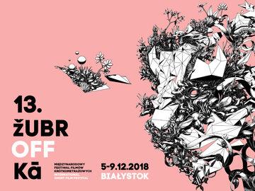 plakat 13 edycji Festiwalu Filmów Krótkometrażowych Żubroffka