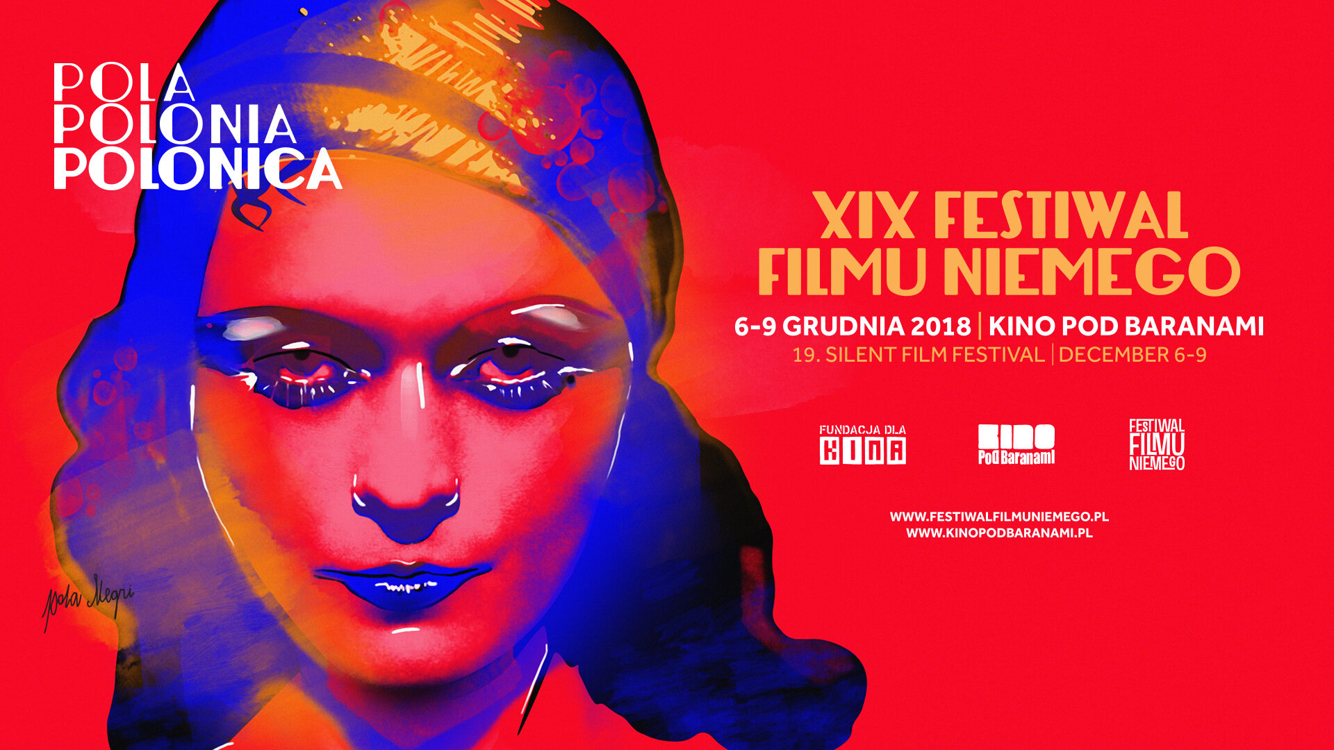 Plakat 19 edycji Festiwalu Filmu Niemego