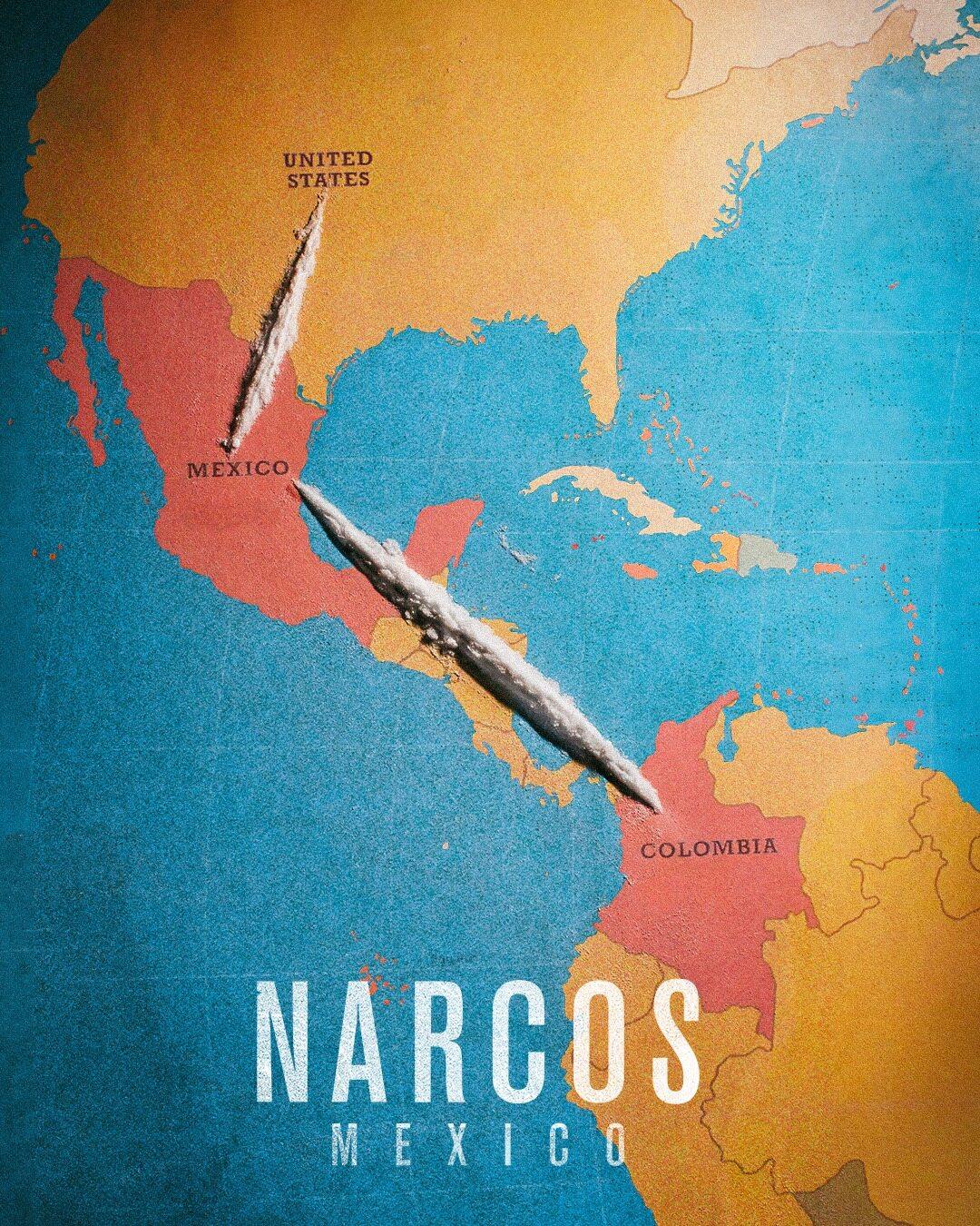 "Plakat promujący ""Narcos"""