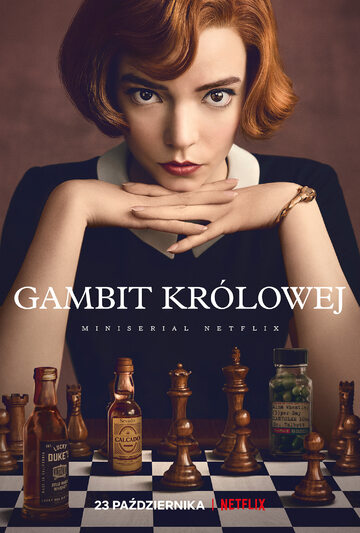 "Plakat serialu ""Gambit królowej"""