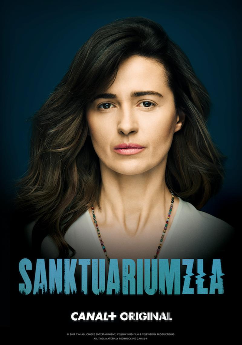 "Plakat serialu ""Sanktuarium zła"""