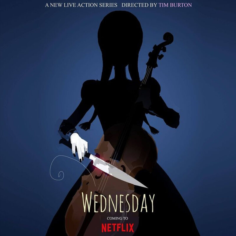 "Plakat serialu ""Wednesday"""