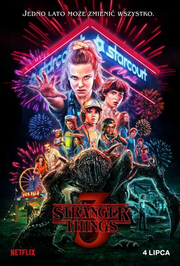 "Plakat trzeciego sezonu ""Stranger Things"""