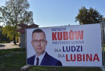 Plakat wyborczy posła PiS Krzysztofa Kubowa