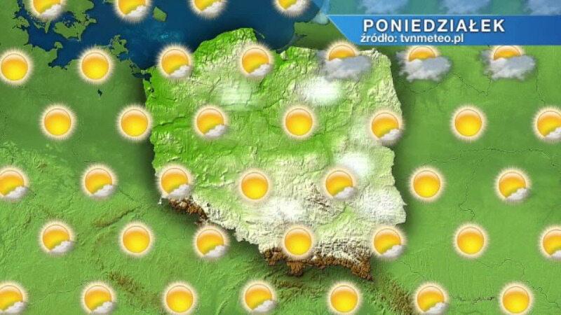 Plansza z prognozą pogody