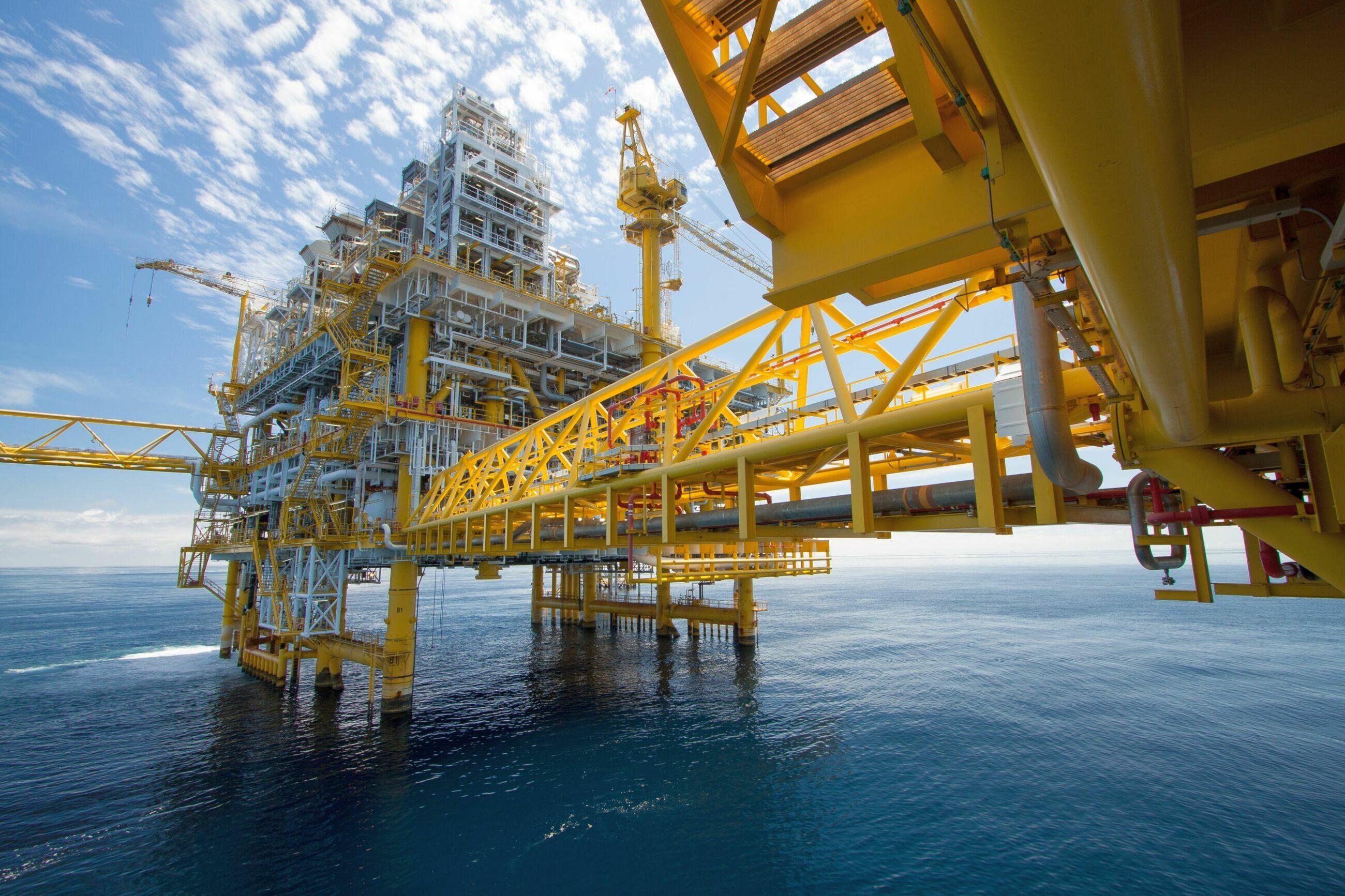 Platforma naftowa i gazowa, zdj. ilustracyjne