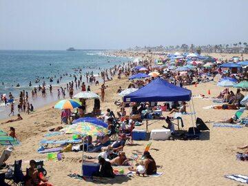 Plaża na terenie stanu Kalifornia, zdjęcie ilustracyjne