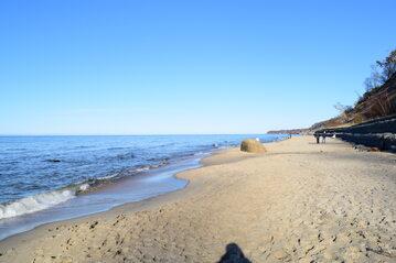 Plaża w Łebie, zdjęcie ilustracyjne