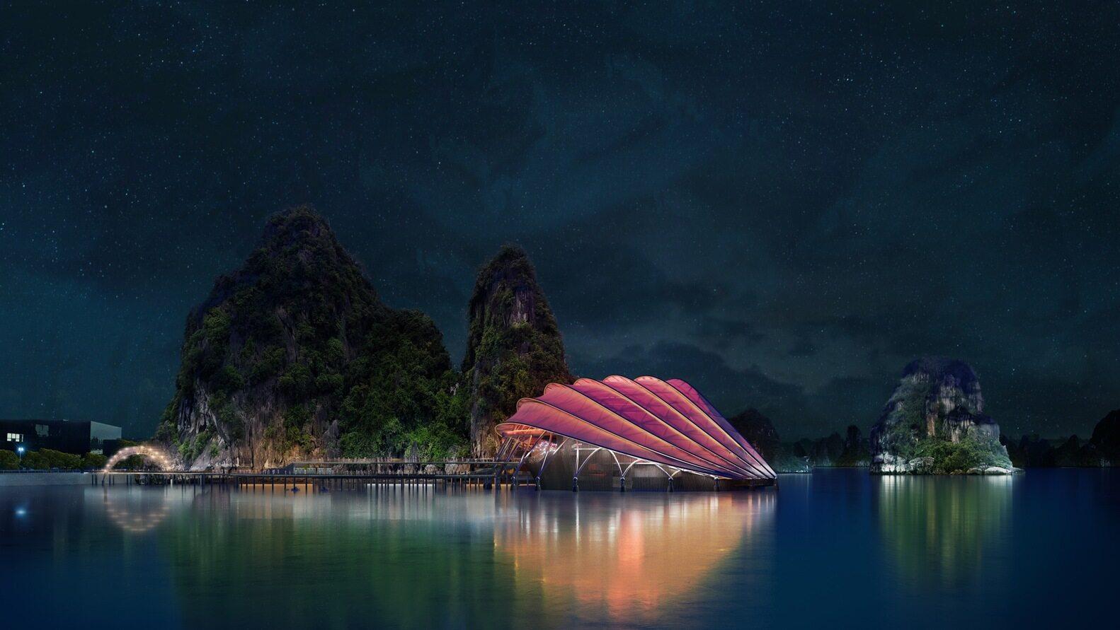 Pływający teatr w Wietnamie