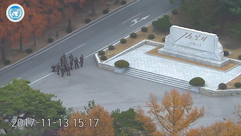 Po południowokoreańskiej stronie czekali zdziwieni wartownicy