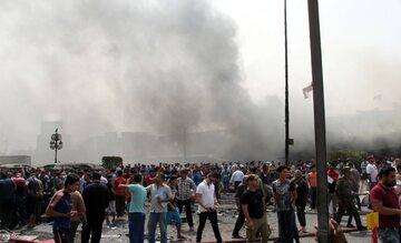 Po wybuchu bomby w Bagdadzie