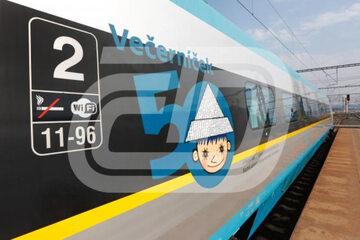 Pociąg czeskich linii kolejowych