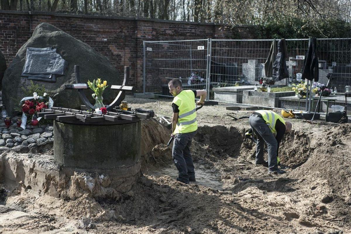 Początek drugiego etapu poszukiwań ofiar komunizmu na Cmentarzu Bródnowskim – Warszawa, 3 kwietnia 2017