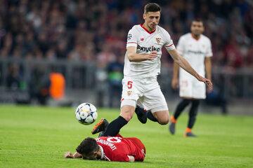 Podobne sceny nie należały do rzadkości podczas meczu Bayernu z Sevillą