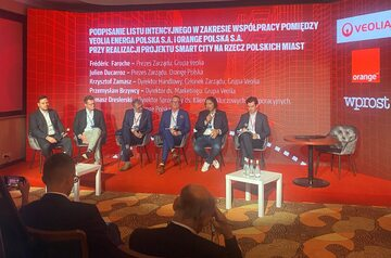 Podpisanie listu intencyjnego między Veolia Energa Polska a Orange Polska